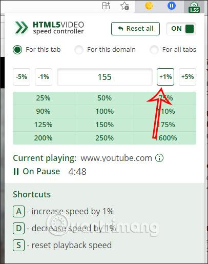 Nhập tốc độ phát video