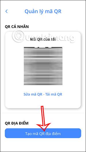 Tạo mã QR địa điểm
