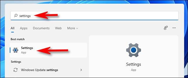 Mở ứng dụng Settings Windows