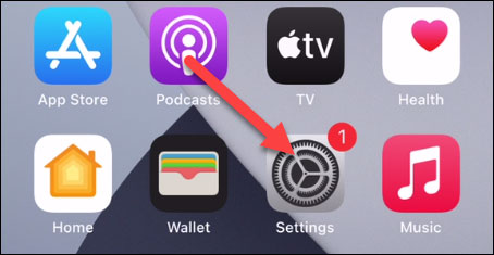Mở ứng dụng Settings