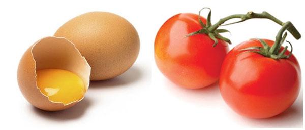 Tỷ lệ trứng so với cà chua