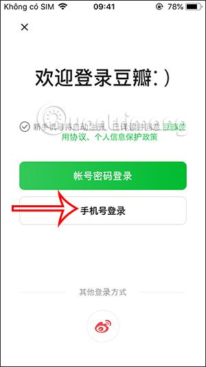 Đăng ký tài khoản Douban