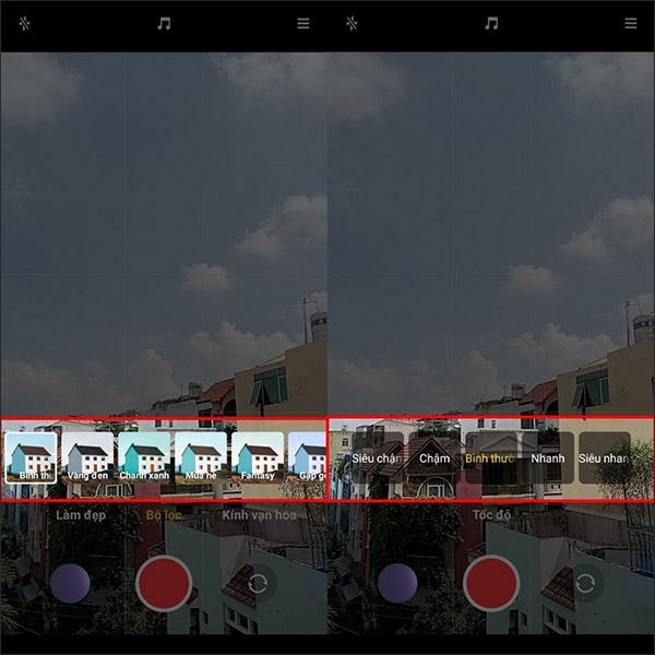 Chọn hiệu ứng video trên Xiaomi Redmi 10