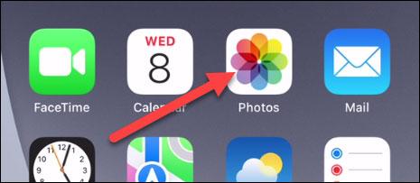 """Truy cập ứng dụng """"Photos"""""""