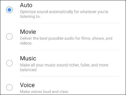 Các tùy chọn cấu hình âm thanh bổ sung