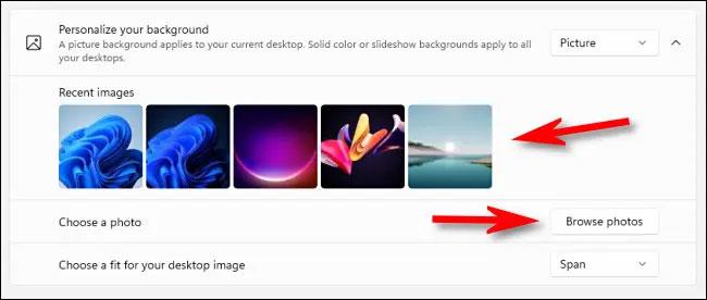 Chọn một gam màu đồng nhất làm nền desktop