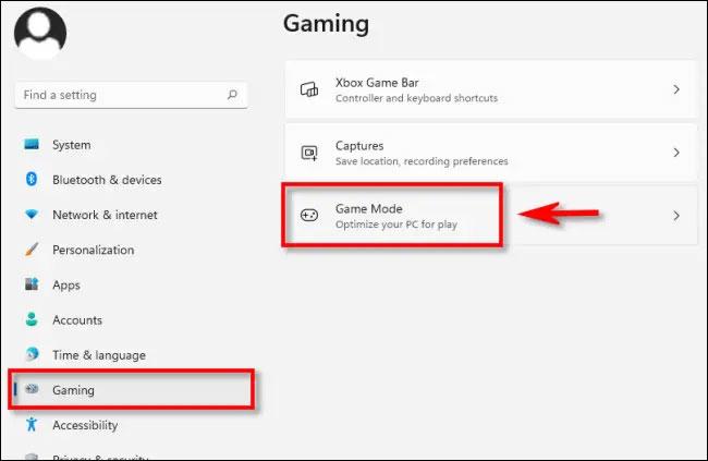 """Nhấn vào """"Game Mode"""""""