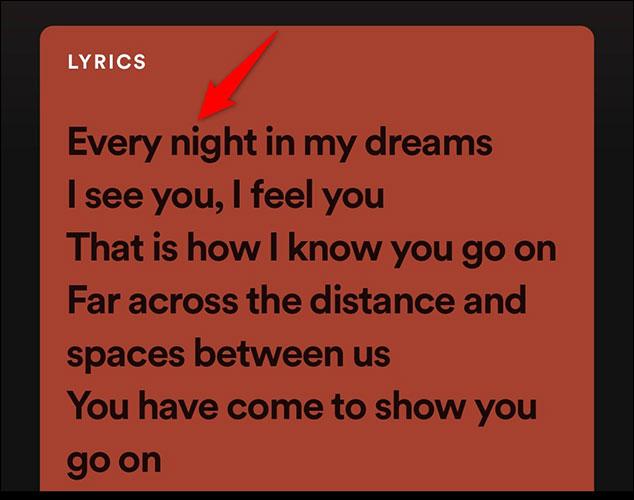Lời bài hát đang phát
