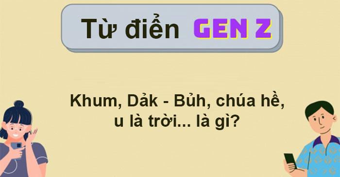 Từ điển Gen Z