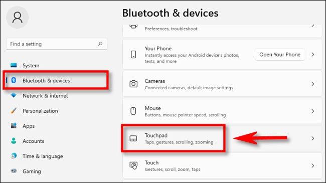 """Nhấp vào mục """"Bluetooth & Devices"""""""