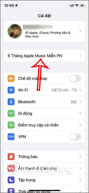 Tùy chọn nhận 6 tháng Apple Music