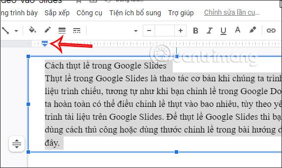 Thụt lề trong Google Slides