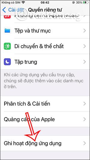 Ghi hoạt động ứng dụng iPhone