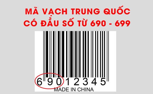 Cách nhận biết hàng Trung Quốc qua mã vạch