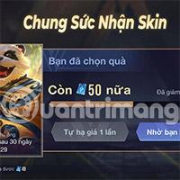 Hướng dẫn Chung Tay Nhận Skin free Liên Quân