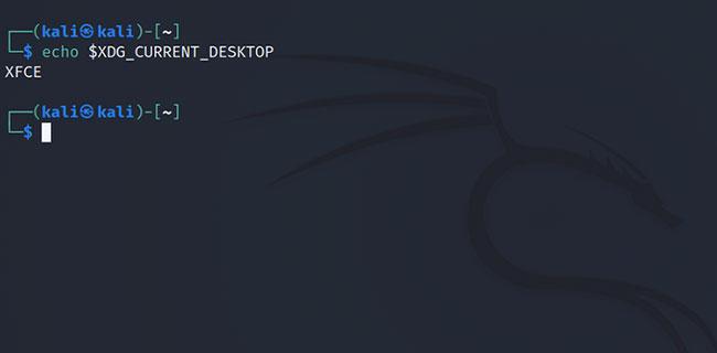 Đầu ra sẽ hiển thị tên của môi trường desktop