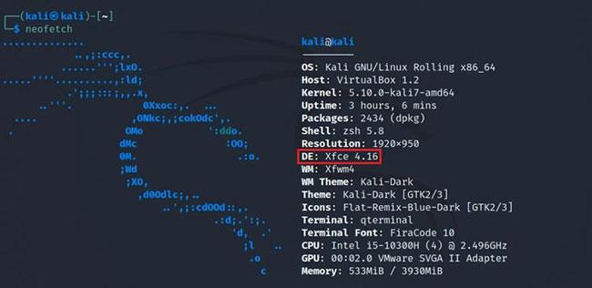 Sử dụng Neofetch để biết môi trường desktop