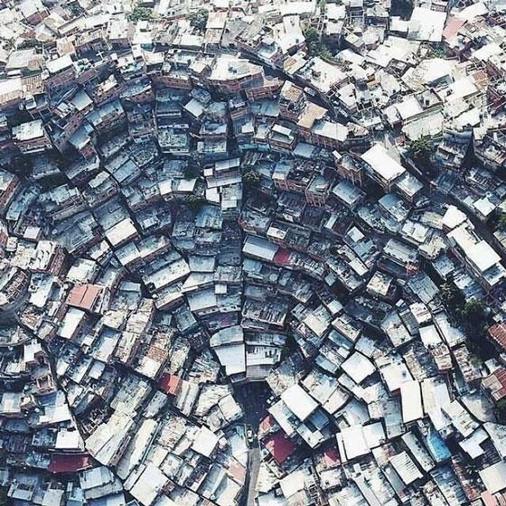 Một khu dân cư ở Petare, Venezuela.