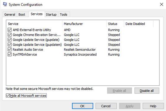 Tìm thủ phạm thực sự trong System Configuration