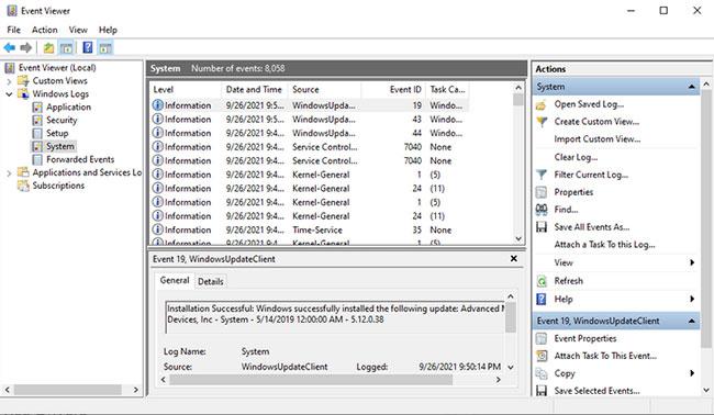 Sử dụng Event Viewer để tìm ứng dụng gây ra lỗi