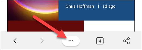 Nhấn vào biểu tượng menu ba chấm