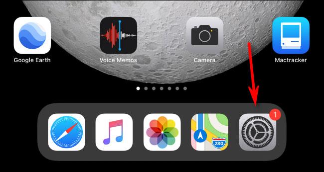 "Mở ứng dụng ""Settings"""