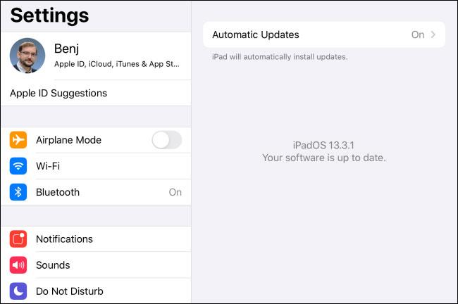 iPad đã được cập nhật