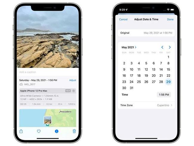Xem và chỉnh sửa siêu dữ liệu trong iOS 15