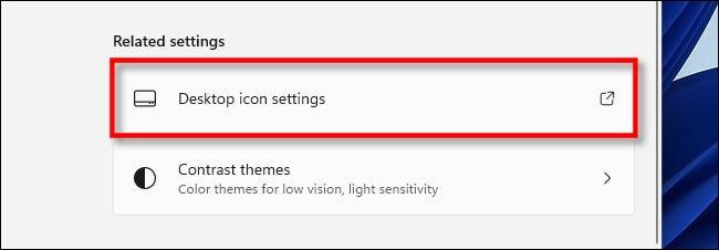 """Nhấp vào """"Desktop Icon Settings"""""""