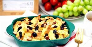 Cách làm bánh mì nướng trái cây khô