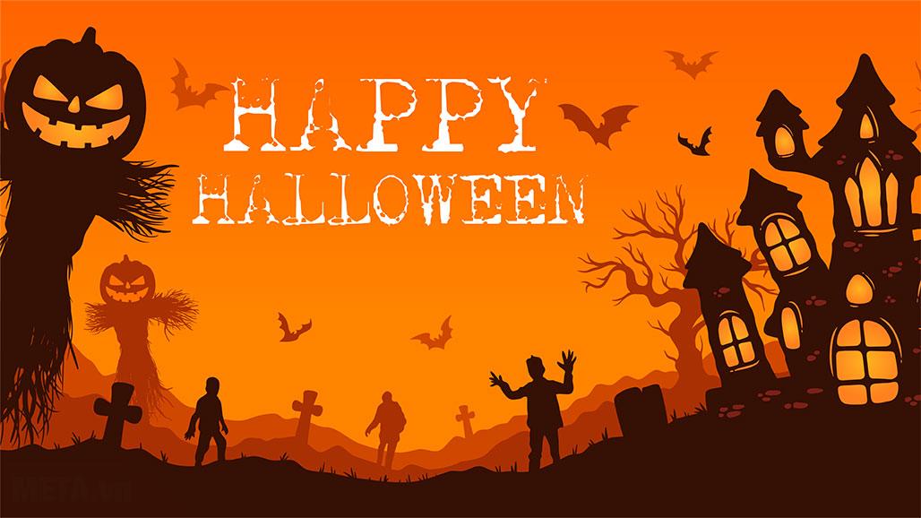 Ảnh chào mừng Halloween đẹp.