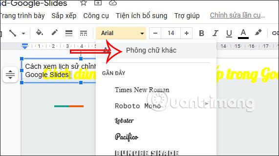 Cách cài thêm font chữ trên Google Slides