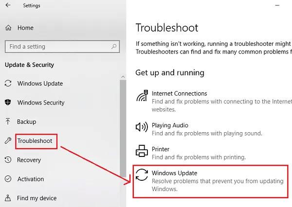 Chạy Windows Update Troubleshooter có thể khắc phục lỗi 0x80071a91