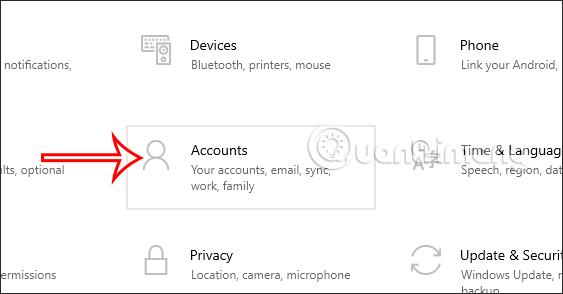 Tài khoản trên Windows 10