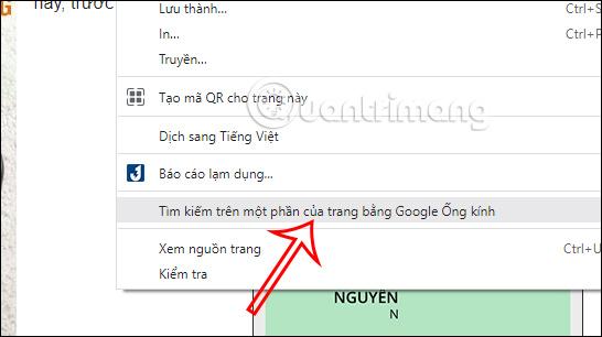 Dùng Google Lens trên Chrome