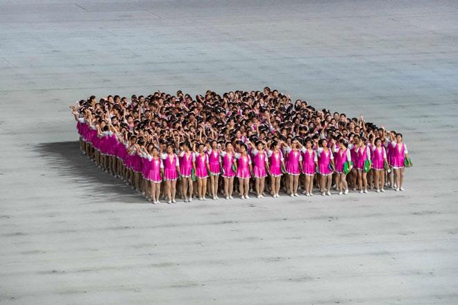 Những người phụ nữ Triều Tiên tham gia biểu diễn