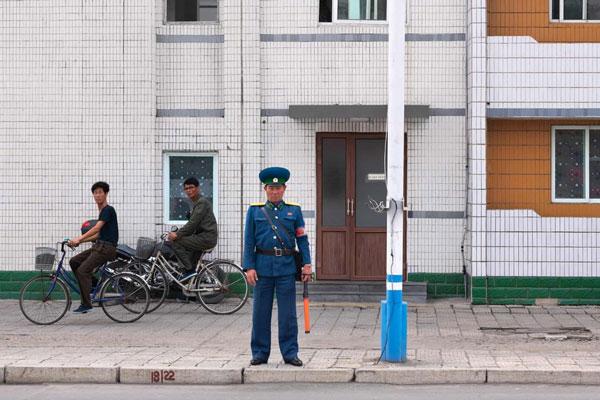 Cảnh đường phố ở Triều Tiên khá bình lặng
