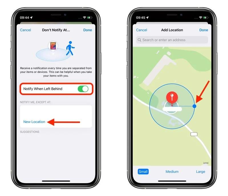 Cách thiết lập cảnh báo bỏ quên thiết bị Apple trên iOS 15