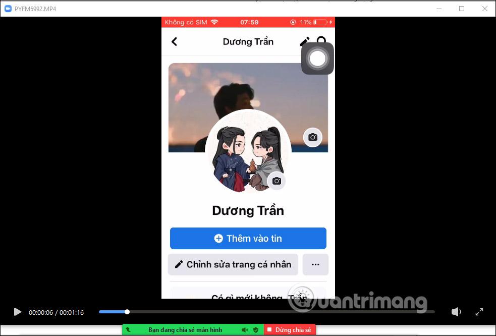 Chia sẻ video trên Zoom PC