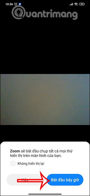 Bắt đầu chia sẻ trên Zoom điện thoại