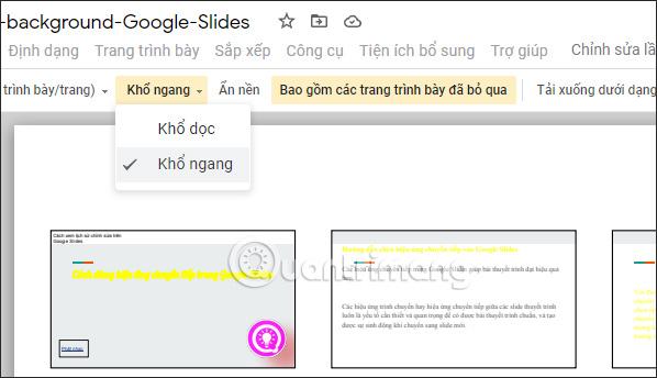 Change size in Google Slides
