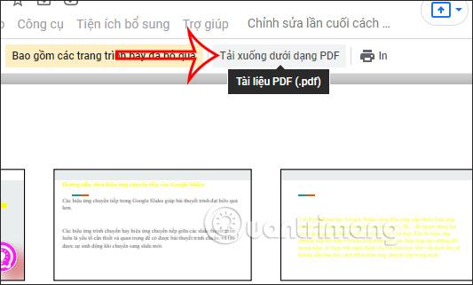 Print in Google Slides