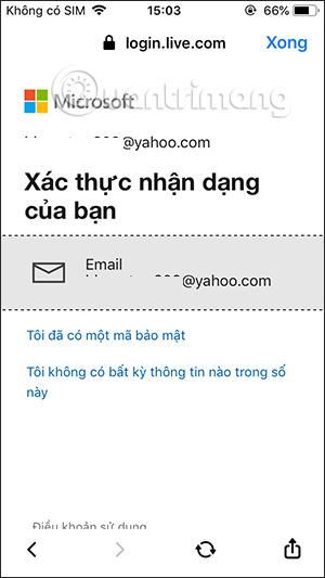 Xác thực email tài khoản Microsoft Teams