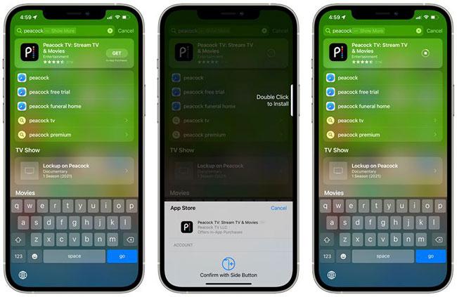 Cài đặt ứng dụng từ Spotlight trên iOS 15