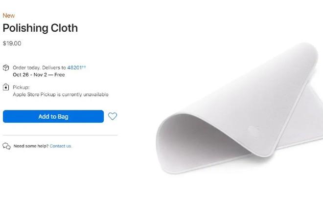 Apple bán chiếc khăn lau màn hình với giá gần 450 ngàn đồng